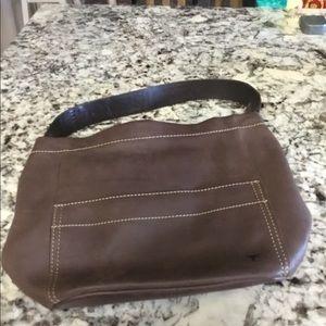 Hook Em Horns Rustic Leather Bag